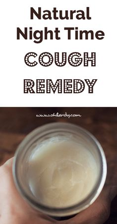 Natural Night Time Cough Remedy. You rub this on your feet at night and cover with socks. Folk say it really works! Recipe includes coconut oil, olive oil, beesewax, tea tree essential oil, rosemary essential oil. (Olive oil can be subbed with evening primrose oil or sweet almond oil.) It's worth a try.