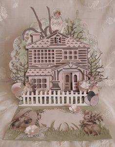 Easter card using Marianne house die
