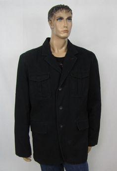 men's blazer jacket Tommy Hilfiger victor full zip lined blazer jacket size XXL  #TommyHilfiger #Blazer 110.99