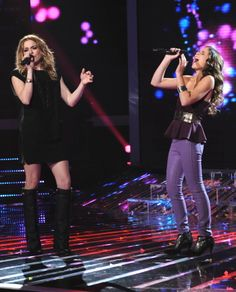 LeAnn Rimes with Carly Rose Sonenclar on Wednesday's show. (FOX Photo)