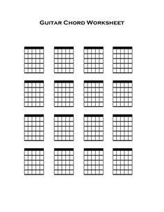 blank guitar chord chart: Blank guitar fretboard google search music pinterest