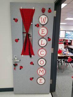 Bishop – Lovely Ladybug Teacher - New Deko Sites Red Classroom, Polka Dot Classroom, Classroom Design, Classroom Themes, Disney Classroom, Board Decoration, Class Decoration, Ladybug Room, Ladybug Decor