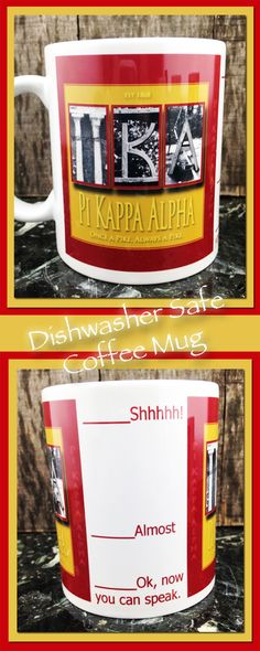 Pike, Pi Kappa Alpha, College, Coffee, Fraternity, Coffee Mug