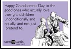Wish all grandparents could show love and equality. It's the kids you are hurting.