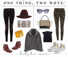 One Thing, Two Ways: The Chunky Knit Sweater {& Pretty Things}