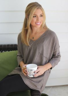A classic sweater for fall. An all-time favorite of ours, the v-neck sweater…