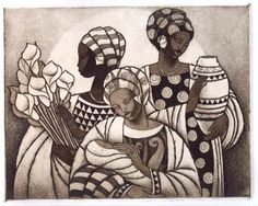Keith Mallett etching