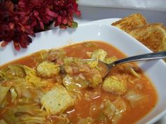 Dirty Rice,Sausage, And, Cabbage Soup