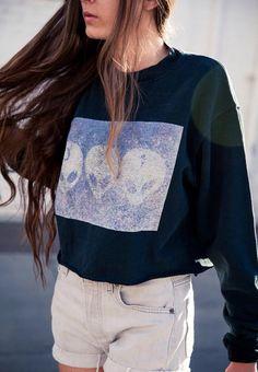 Alien cropped sweatshirt