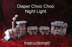 INSTRUCCIONES  pañal instrucciones de Choo Choo tren noche
