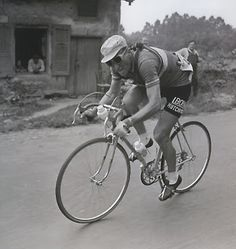 """Jean Bobet on Cycling: """"The voluptuous pleasure that cycling can give you is delicate, intimate and ephemeral.""""  """"It arrives, it takes hold of you, sweeps you up and then leaves you again. It is for you alone. It is a  combination of speed and ease, force and grace. It is pure happiness."""""""