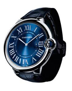 Get the Blues Cartier Extra-flat Ballon Bleu de Cartier Platinum, 46 mm $32,550