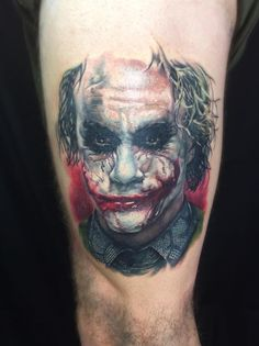 David Benjamin Kaye, Skinks Tattoo Lounge, Hamilton, New Zealand, Joker tattoo
