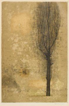 The jouney of an image - treebystream: Tree, Fukui Ryonosuke / 福井良之助. Abstract Landscape, Landscape Paintings, Abstract Art, Arte Peculiar, Illustrations, Illustration Art, Japanese Artists, Encaustic Painting, Art Plastique
