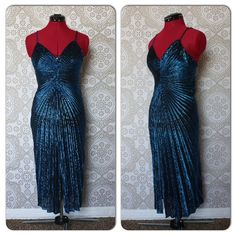 Vintage 1970's 80's Black and Blue Metallic Lurex by pursuingandie, $52.00...Mermaid