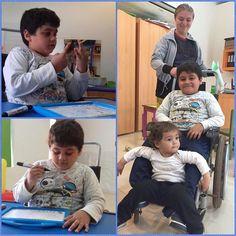 Él es Luis y viene al Centro Teletón en Paraguarí en compañía de su mamá Leticia y su hermana Carmen.   Mientras Luis realiza sus terapias de estimulación pedagógica su mamá nos comenta que ahora él aprendió a manejarse mucho mejor en la casa y escuela.