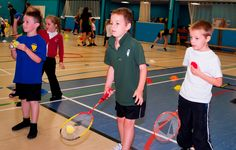 We love this image of children enjoying learning to play badminton with BISI at Newton Abbott College, good stuff kids, looks like you're having fun! We created part of a complete branding and design solutions for the BISI Programme.