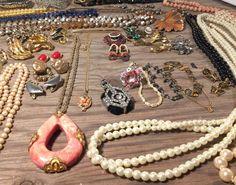 Vintage Jewelry Lot, Estate Jewelry Lot, Grandmas Jewels 44PC Jewelry Lot