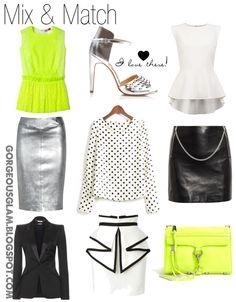 Silver. Black. Yellow Neon.