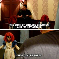 Last season of Impractical Jokers lol this was one of my favorites Impractical Jokers Quotes, Funniest Pictures Ever, Funny Facts, Funny Memes, Jokes, Man Humor, Best Shows Ever, Laugh Out Loud, Film