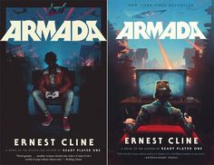 Armada Book Cover Illustrations by Sam Spratt Book Cover Design, Book Design, Armada Ernest Cline, Ready Player One, Beautiful Posters, Sci Fi Books, First Novel, Logo Images, Posters