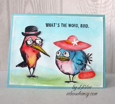 The possibilities are unlimited when you start to play with these Crazy and colorful birds. Check out the Crazy Bird challenge with the Love grouphttps://www.flickr.com/groups/lovehandmadecards/discuss/72157653640039193/#comment72157656346847445