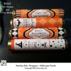 Halloween Printable Rolo Wrappers -  I'm totally Batty for You,  Fright Night Munchies, Happy Halloween, You've Got Me under your Spell, Gina Jane Designs - DAISIE Company