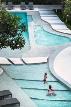 The Base Downtown Phuket Condominium by Sansiri. Architecture and Landscape design by Open Box. Pool Landscape Design, Landscape Architecture Design, House Architecture, Moderne Pools, Swiming Pool, Backyard Seating, Pool Backyard, Hotel Pool, Hotel Swimming Pool