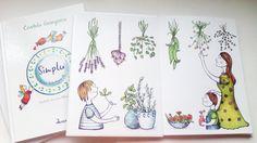 "Book cover and illustration for ""Simplu.Versuri hranitoare"""