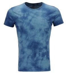IKKSTee-shirt droit effet délavé Bleu