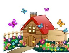 ☆SOLD!☆ #Cute little #Countryside #Childhood  #House with #Wood #Panel-Vector  http://it.fotolia.com/id/33610648#