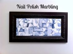 nail polish marbling, crafts, how to, repurposing upcycling, wall decor