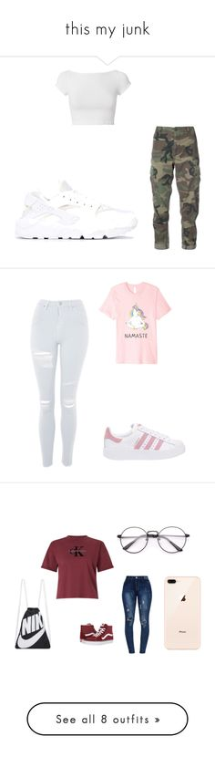 """""""this my junk"""" by chyncast on Polyvore featuring RE/DONE, Helmut Lang, NIKE, Topshop, adidas Originals, Calvin Klein, Vans, Cushnie Et Ochs, Accessorize and River Island"""