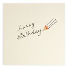 Pencil Shavings Card – Birthday Pencil