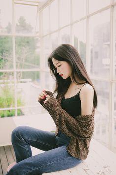 Korean Fashion Dress, Korean Outfits, Fashion Dresses, Girl Korea, Asia Girl, Cute Korean, Asian Beauty, Cute Girls, Casual Outfits