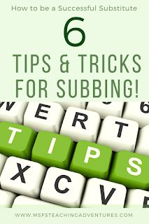 How to be a prepared substitute teacher pinterest substitute ms fs teaching adventures tips and tricks for substitute teachers fandeluxe Images