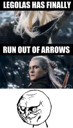 The Hobbit: Battle of the Five Armies - Legolas finally runs out of arrows!