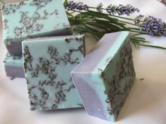 French lavender, shea butter, goat milk, and natural oils - so lovely to look at!