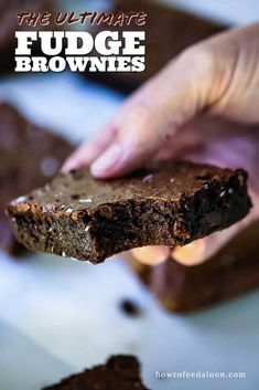 If you are looking for the fudgiest, moistest, most delicious brownie recipe in the world...look no further! Easy and over-the-top yummy! Get the complete recipe with ALL-NEW VIDEO on the blog!