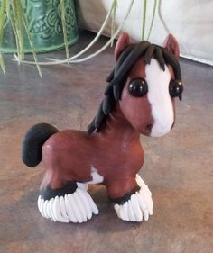 Clydesdale polymer clay horse-sold