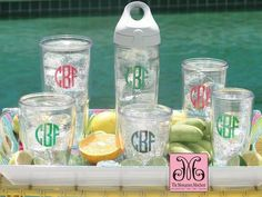 Have and love these! Monogrammed Tervis Tumblers // TheMonogrammedMerchant.com - #Monograms #TervisTumbler #MonogrammedCups