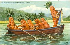 Vegetable People Postcard
