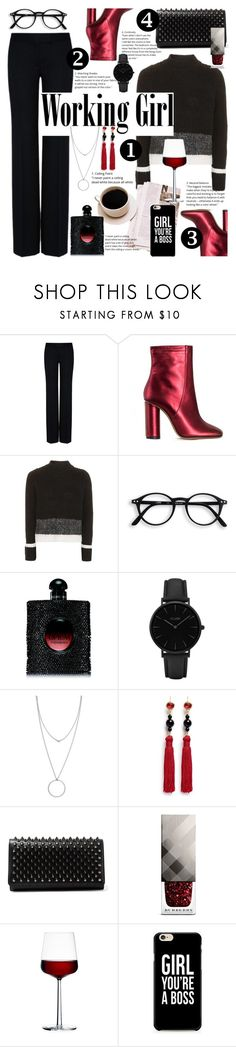 """Working Girl #67"" by nausicaa12 ❤ liked on Polyvore featuring STELLA McCARTNEY, Jill Stuart, Topshop, Yves Saint Laurent, CLUSE, Botkier, Kenneth Jay Lane, Christian Louboutin, Burberry and iittala"