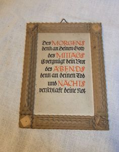 Antique German Wood Tramp Art Picture Frame #CD1