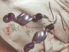 Design by Suzi: ◠◦◡ ❦ Náušničkový ❦◡◦◠ Handmade Jewellery, Lavender, Pearl Earrings, Pearls, Diy, Jewelry, Design, Fashion, Handmade Jewelry
