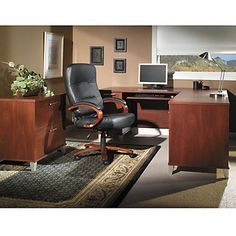 Somerset L-Desk with Lateral File - OFG-DS1024 Home Office Furniture