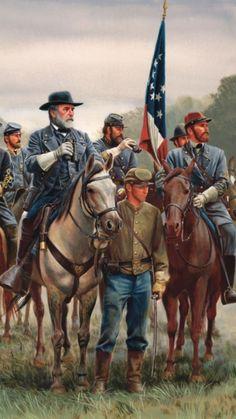 Confederate General Robert E Lee watched battles!