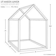 bonnesoeurs design lit maison dimensions taille junior