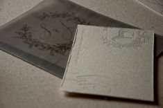 Letterpress Wedding Invitation Sample by SWEETletterpress on Etsy