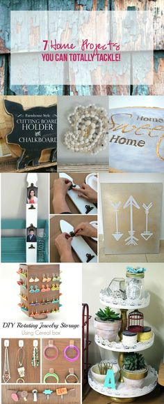 Okay now I see a few projects I could totally tackle! I love all 7 fun projects! Click through and read more or re-pin for later! @HappilyEverAEtc